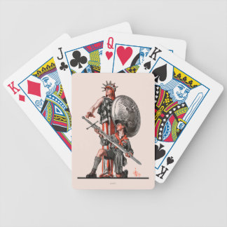 Boy Scout and Liberty Playing Cards