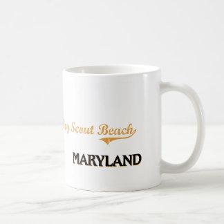 Boy Scout Beach Maryland Classic Mugs
