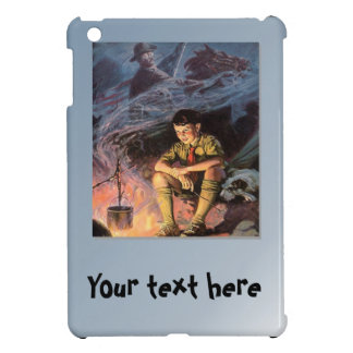 Boy scout by the fire cover for the iPad mini