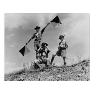 Boy Scout Semaphore Flags, 1940s Poster