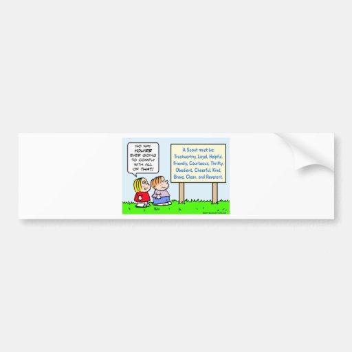 boy scouts comply brave trustworthy loyal kind bumper sticker