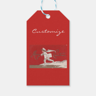 Boy Skating Vintage Thunder_Cove Christmas Gift Tags