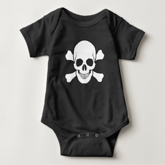 BOY SKULL AND CROSSBONES BABY BODYSUIT