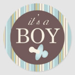 Boy Square Sticker A