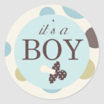 Boy Square Sticker C