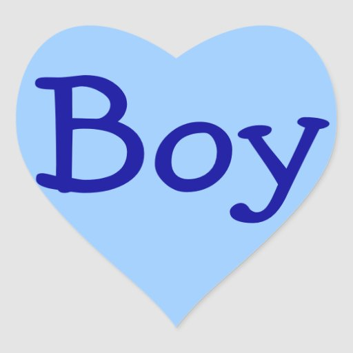 Boy Sticker Seals