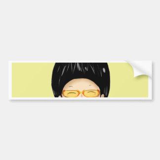 Boy sunglass bumper sticker
