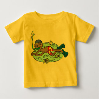 Boy Swimming With Fish Baby T-Shirt