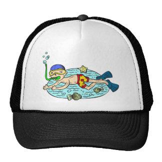 Boy Swimming With Fish Trucker Hat