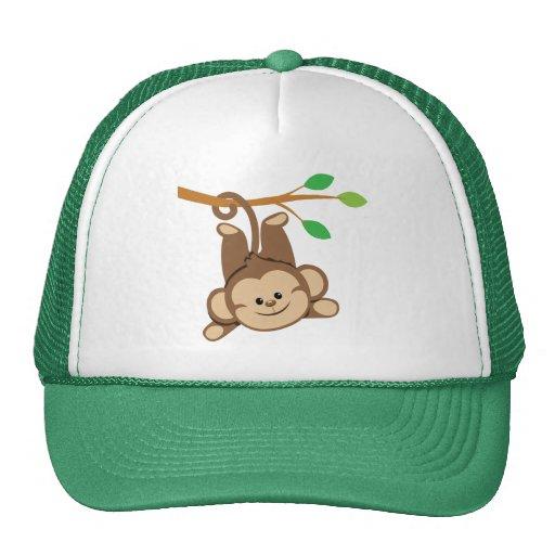 Boy Swinging Monkey Mesh Hats