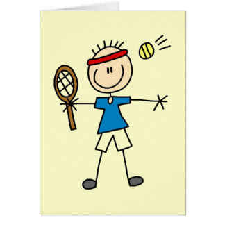 Boy Tennis Player tshirts and Gifts Card