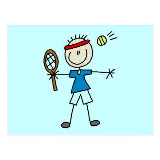 Boy Tennis Player tshirts and Gifts Postcard