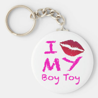 Boy Toy Basic Round Button Key Ring