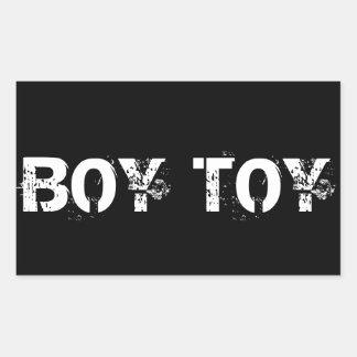 BOY TOY RECTANGULAR STICKER