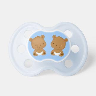 Boy Twins Baby Bear Dummy
