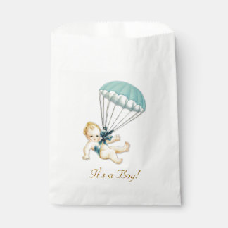 Boy Vintage Baby Shower Favour Bag