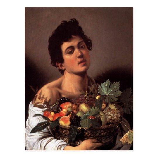 Boy with a Basket of Fruit Postcard