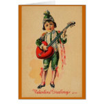 Boy with a Love Guitar Greeting Card