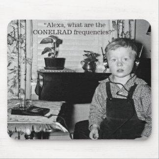Boy With Crystal Radio Set Humor Mouse Pad