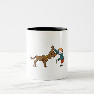 Boy With Dog Mugs