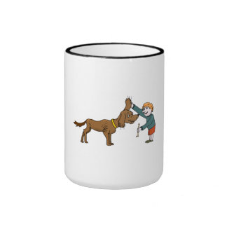 Boy With Dog Coffee Mug