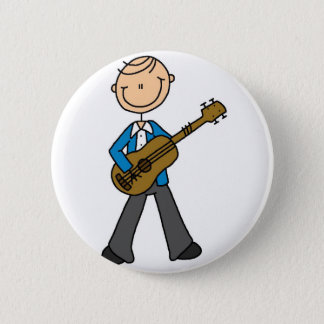 Boy With Guitar Button