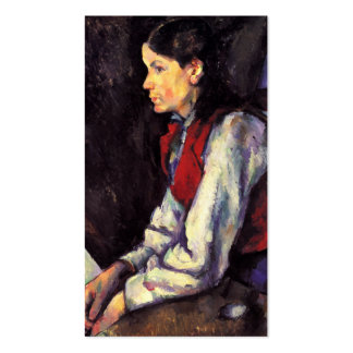 Boy With Red Vest Paul Cezanne painting art Business Cards