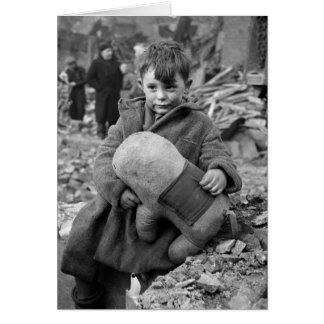 Boy with Stuffed Animal, 1945 Cards