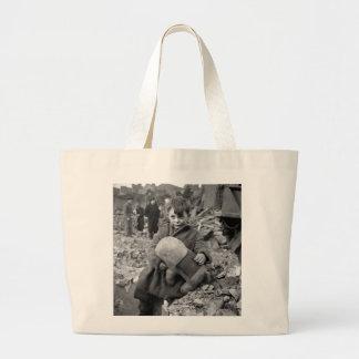Boy with Stuffed Animal, 1945 Jumbo Tote Bag