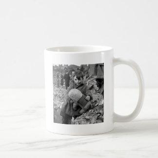 Boy with Stuffed Animal, 1945 Mugs