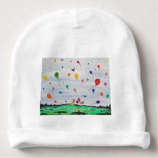 Boy with the balloons baby beanie