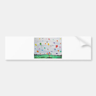Boy with the balloons bumper sticker
