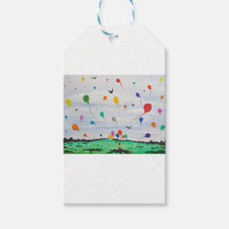 Boy with the balloons gift tags