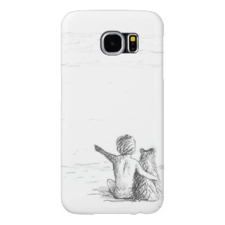 Boy with the dog samsung galaxy s6 cases