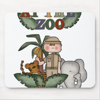 Boy Zoo Keeper Mouse Pad