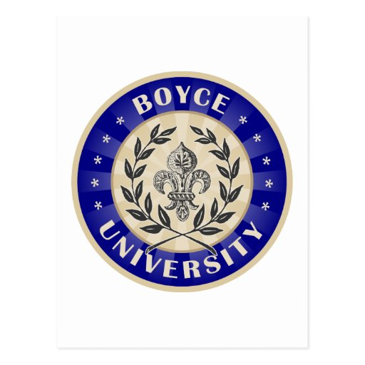 Boyce University Navy Postcard