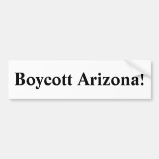 Boycott Arizona! Bumper Sticker