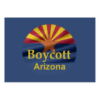 BOYCOTT Arizona Business Card