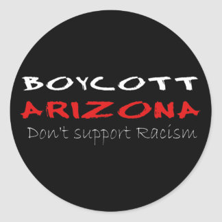 Boycott Arizona Round Sticker