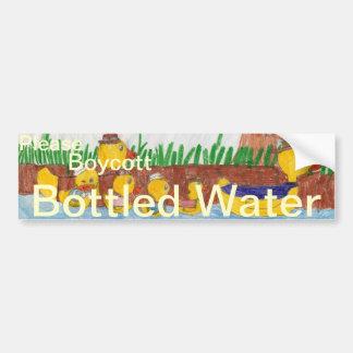 Boycott Bottled Water Bumper Sticker