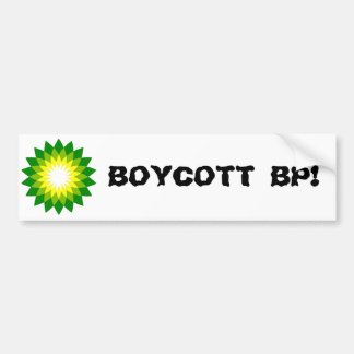 BOYCOTT BP! BUMPER STICKER