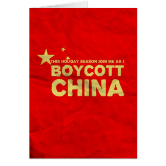 Boycott China...Buy American Lead Toys! Card