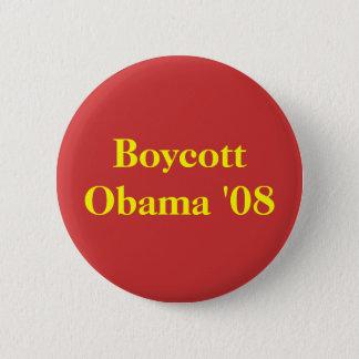 Boycott Obama '08 6 Cm Round Badge