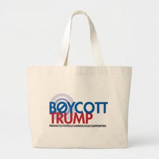 Boycott Trump Large Tote Bag