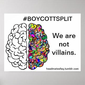 #boycottsplit sign