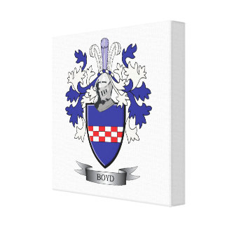 Boyd Family Crest Coat of Arms Canvas Print