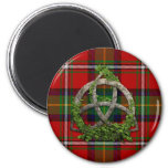 Boyd Tartan And Celtic Trinity Knot 6 Cm Round Magnet