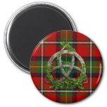 Boyd Tartan And Celtic Trinity Knot 6 Cm Round Magnet