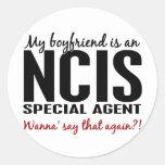 Boyfriend An NCIS Agent 1 Round Stickers