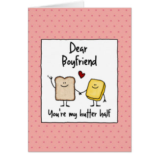 Boyfriend - butter half - Valentine's Day Card